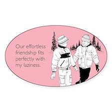 Effortless Friendship Sticker (Oval)