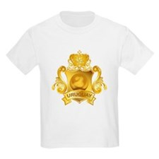 Gold Football Uruguay T-Shirt