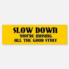 Slow Down Bumper Bumper Sticker