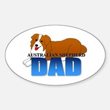 Australian Shepherd Dad Sticker (Oval 10 pk)