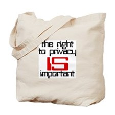 Privacy is important Tote Bag