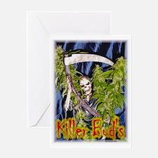 killer bud - Greeting Card