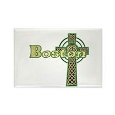Boston Celtic Cross Rectangle Magnet