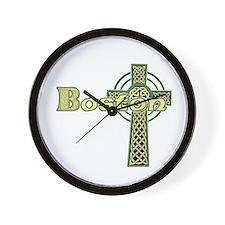 Boston Celtic Cross Wall Clock