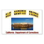 San Quentin Prison Sticker (Rectangle)