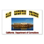 San Quentin Prison Sticker (Rectangle 10 pk)