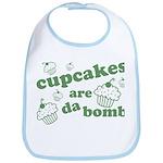 Cupcakes Are Da Bomb Bib