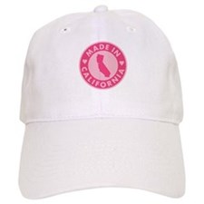 Made in California - Pink Baseball Baseball Cap