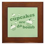 Cupcakes Are Da Bomb Framed Tile
