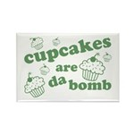 Cupcakes Are Da Bomb Rectangle Magnet