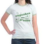 Cupcakes Are Da Bomb Jr. Ringer T-Shirt
