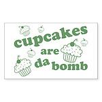 Cupcakes Are Da Bomb Rectangle Sticker