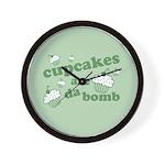 Cupcakes Are Da Bomb Wall Clock