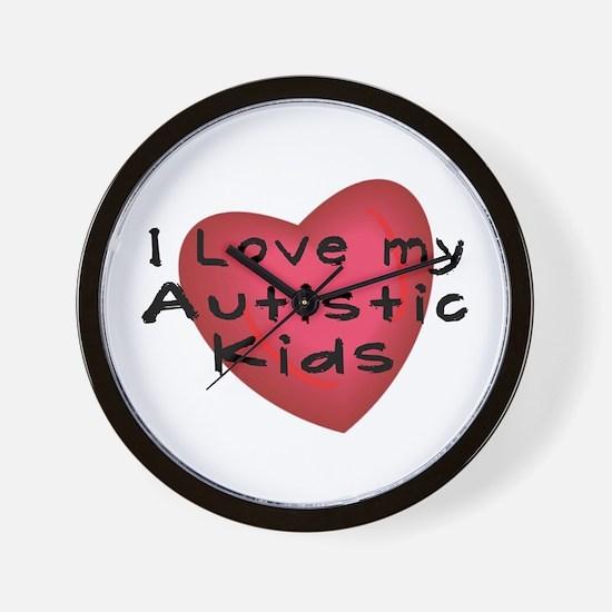 I Love...Kids Wall Clock