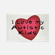 I Love...Kids Rectangle Magnet (10 pack)