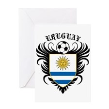 Uruguay Football Greeting Card