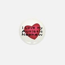 I Love...Nephew Mini Button (10 pack)
