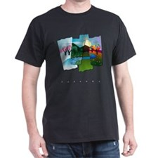 Seasons Black T-Shirt