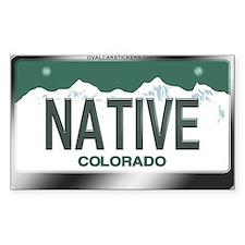 """NATIVE"" Colorado License Plate Decal"