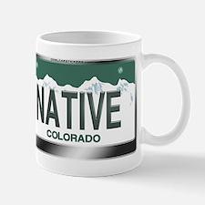 """""""NATIVE"""" Colorado License Plate Mug"""