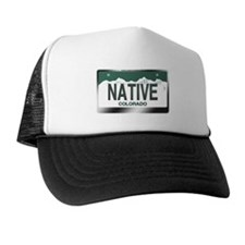 """NATIVE"" Colorado License Plate Trucker Hat"