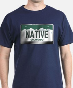 """NATIVE"" Colorado License Plate T-Shirt"