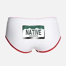 """""""NATIVE"""" Colorado License Plate Women's Boy Brief"""