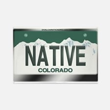 """NATIVE"" Colorado License Plate Rectangle Magnet"