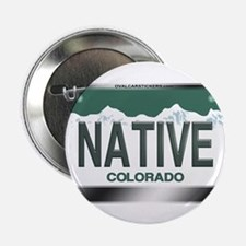 """NATIVE"" Colorado License Plate 2.25"" Button (100"