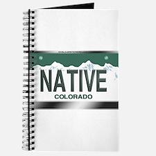 """NATIVE"" Colorado License Plate Journal"