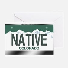 """NATIVE"" Colorado License Plate Greeting Card"