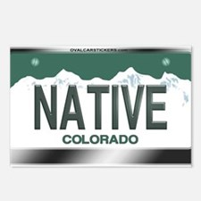 """NATIVE"" Colorado License Plate Postcards (Package"