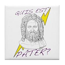 Quis est Pater? (Who's Your D Tile Coaster