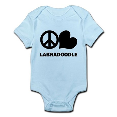 Peace Love Labradoodle Infant Bodysuit