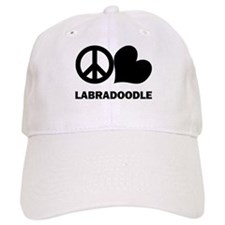 Peace Love Labradoodle Baseball Cap