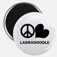 Peace Love Labradoodle Magnet