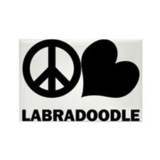 Peace Love Labradoodle Rectangle Magnet