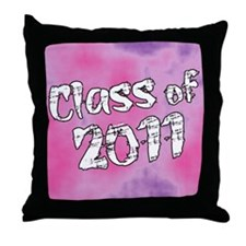 Class of 2011 Pink and Purple Throw Pillow