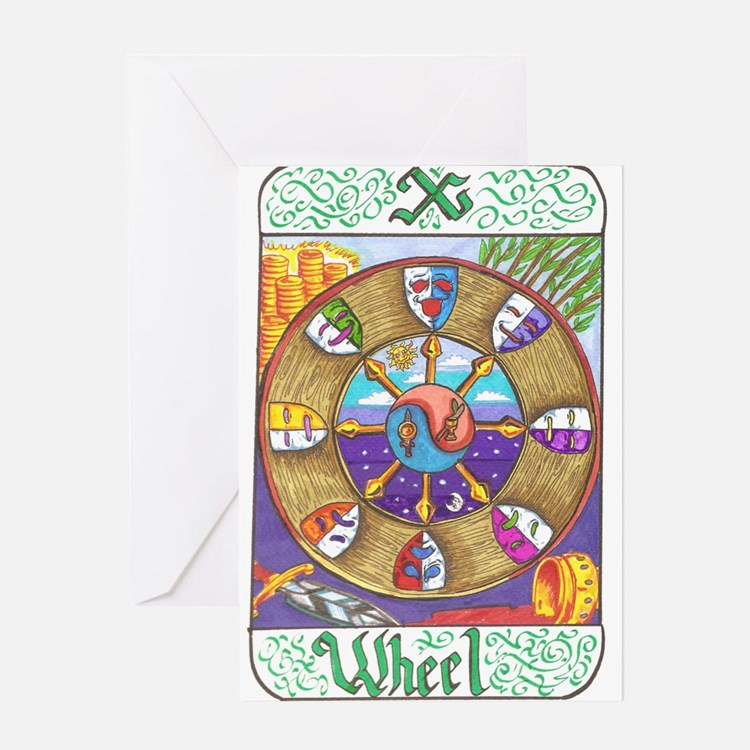 Cute Wheel of fortune Greeting Card