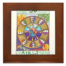 Cute Wheel of fortune Framed Tile