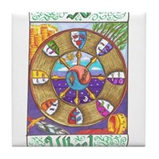 Cute Wheel of fortune Tile Coaster
