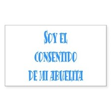 Consentido de abuelita azul Rectangle Decal