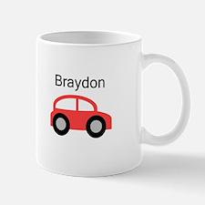 Braydon - Red Car Mug