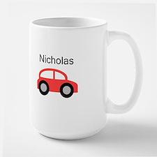 Nicholas - Red Car Large Mug