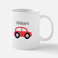William - Red Car Mug