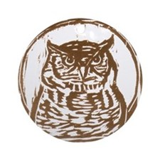 Owl - Ornament (Round)
