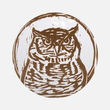 Owl - Ornament (Round)