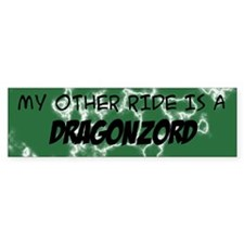 My other ride is a DragonZord Car Sticker