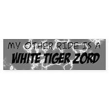 My other ride is a White Tiger Zord Bumper Bumper Sticker
