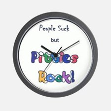 People Suck, Pitties Rock Wall Clock